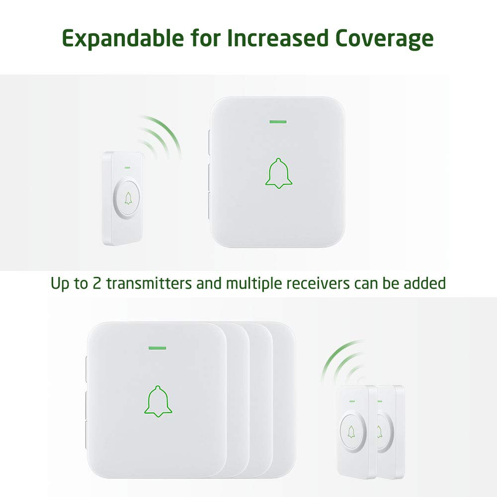 AVANTEK Mini Doorbell Add-on Plug-in Receiver Black