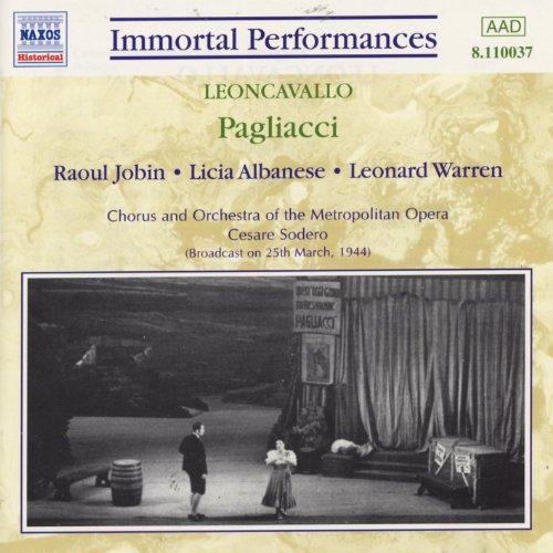 Leoncavallo : Pagliacci (Jobin/Albanese / ()