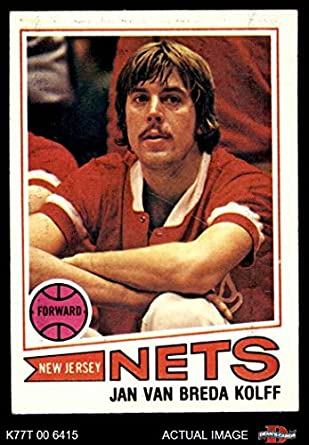 Amazon.com  1977 Topps   109 Jan Van Breda Kolff New Jersey Nets  (Basketball Card) Dean s Cards 6 - EX MT Nets  Collectibles   Fine Art 5c04cd947