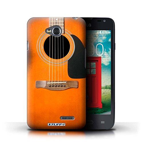 Kobalt® Imprimé Etui / Coque pour LG L65/D280 / Sunburst Acoustique conception / Série Guitare