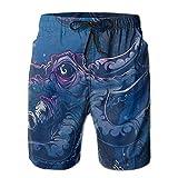 Octopus Devilfish Animal Novelty Ventilation Men Board Shorts Jogging Swim Short M-XXL