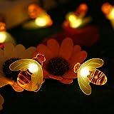 Solar Bee Light Outdoor Tomshine 30 LED Honey Bee