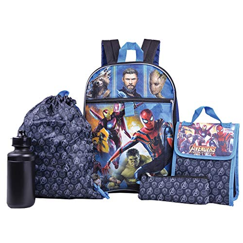 c74820cf5de Marvel Avengers Backpack Combo Set - Marvel Avengers 5 Piece Backpack  School Set