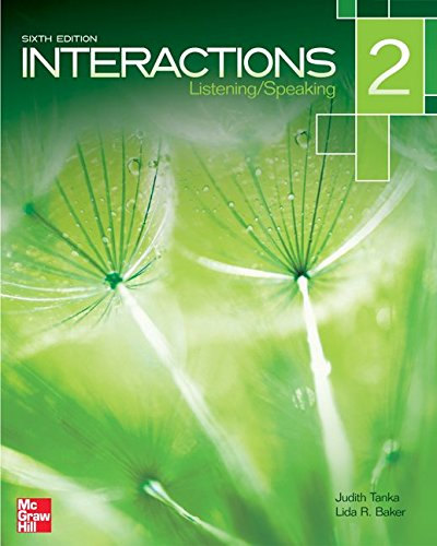 Interactions Level 2 Listening/Speaking Student Book (Book Only / No Access Code provided)
