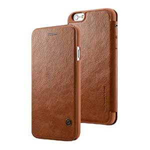 C8Q Men Vintage PU Leather Case Ultrathin Business Flip Case Cover For iPhone 6 Brown