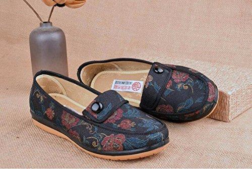 Mina Bottom GTVERNH blue Prova Vecchia Fondo Mamma Scarpe Donna Scarpe Scarpe Le Pechino Da Medio E Piatto Soft Pezzi Di La Solo A Primavera Vecchiaia wOFWw7pxqr