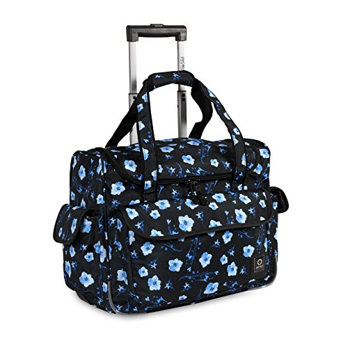 J World New York Donna Rolling Travel Tote, Night Bloom, One Size