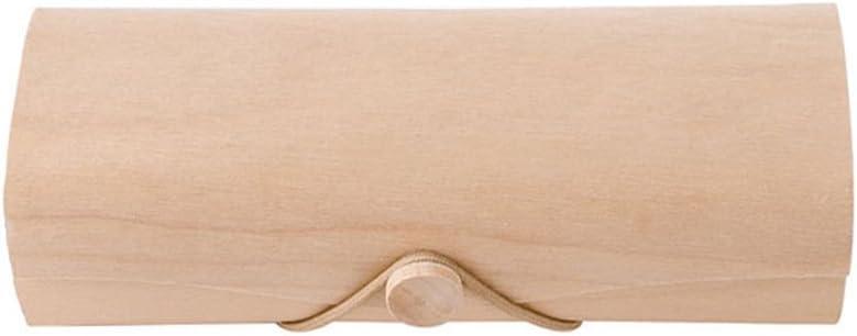 Tragbare Holz-Sonnenbrillenbox mit Brillenetui