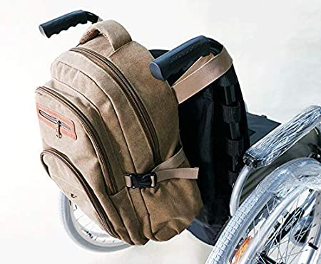 GBX@I Bolsa de almacenamiento de mochila para silla de ruedas: bolsa de viaje universal para llevar accesorios en silla de ruedas, andadores rodantes; Sillas de transporte Plegable