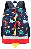 Kid Backpack Boy Preschool with Strap Dinosaur Blue Kindergarten Leash Bookbag