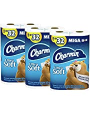 Charmin Ultra Soft Toilet Paper, 24 Mega Roll Bath Tissue, 3 Packs of 8 Mega Rolls, 264 Sheets Per Roll