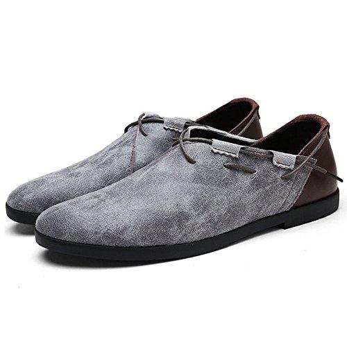 Footwear KemeKiss On Leisure Top Low Men Grey Slip Shoes Loafer Tq84POT