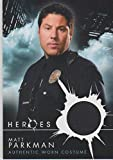 2015 Topps Matt Parkman Actor Used Heroes Costume Insert Card #NNO