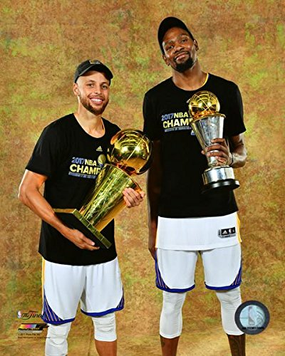 559c4bdbc2b Warriors 2017 Champions Steph Curry Kevin Durant Trophies 8