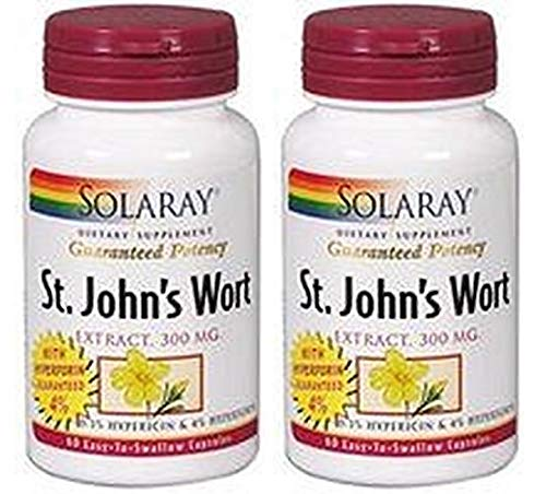 St. JohnS Wort (Hipérico) 60 cápsulas de Solaray: Amazon.es ...