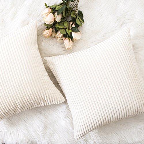 HOME BRILLIANT Decorative Accent Pillow Covers Case Striped