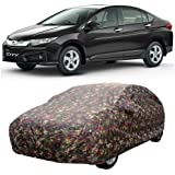 SHAH BROTHERS ENTERPRISES Car Body Cover for Honda City -I-VTEC with Side Mirror Pocket |Military Color|