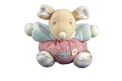Kaloo – Doudou Kaloo ratón bola Rayee rojo y blanco brazo azul sonajero – 7580