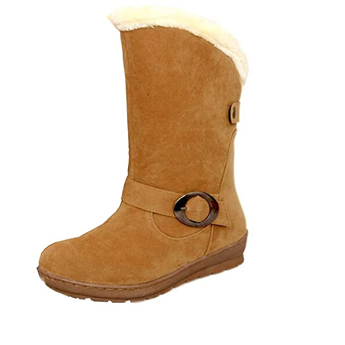 Botas,BBestseller Martin botas de mujer Fondo plano con botas de algodón grueso de lana caliente Zapatos planos: Amazon.es: Ropa y accesorios