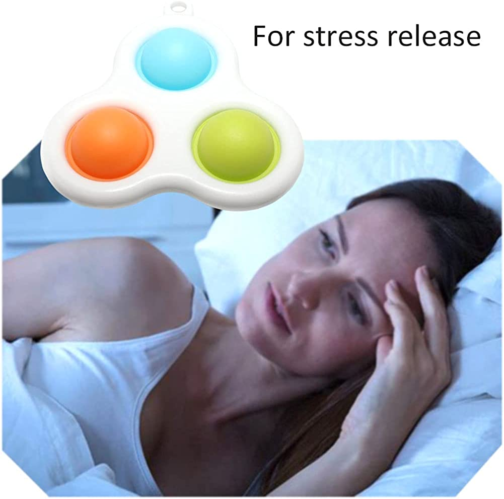 Push Pop Bubble Keychain Sensory Toys 2021 Simple Dimple Fidget Toy Portable Stress Relief Handheld Toys
