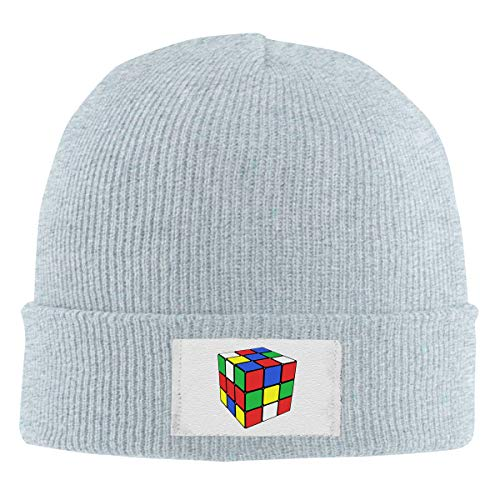 Unisex Elastic Knitted Beanie Cap Magic Cube Art Love Winter Outdoor Warm Skull Hats ()