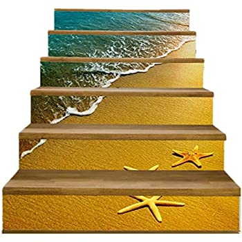 Amazon Com Fuloon Waterfall 3d Stair Sticker Diy Steps