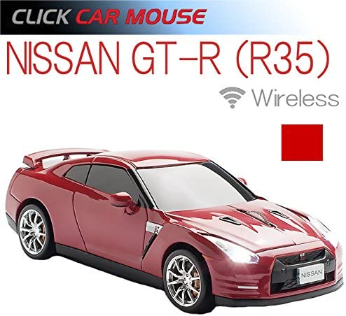 R35 red Wireless 2.4 GHz Mouse Nissan GT-R