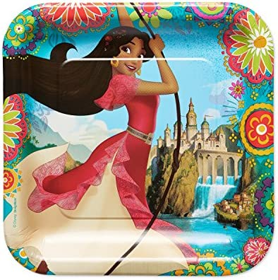 American Greetings Elena of Avalor Dinner Square Plate (8-Count)