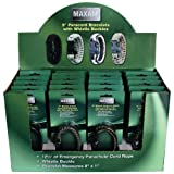 Maxam SPCORDSP Paracord Bracelets In Countertop Display (24 Piece)
