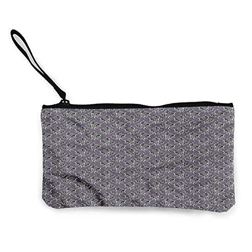 - Pencil Bag Victorian,Autumn Garden Motifs,Pouch Bag Case W 8.5