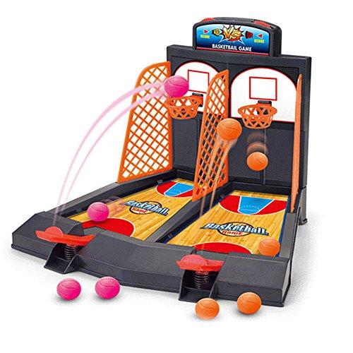 OneCreation Arcade Ball Mini Shoot & Score Game - 2 Players TableTop Basketball Game Machine Toys
