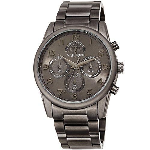 Watch Gunmetal Analog Dial - Akribos XXIV Gunmetal Grey Stylish Wrist Watch for Men - Analog Quartz –AK1042GN