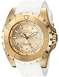 Invicta Mens Pro Diver Quartz Stainless Steel and Polyurethane Casual Watch, Color:White (Model: 23740)