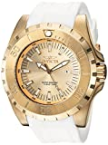 Invicta Men's 'Pro Diver' Quartz Stainless Steel and Polyurethane Casual Watch, Color:White (Model: 23740)