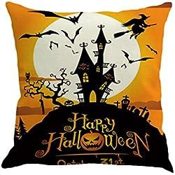 Halloween Decorations Pillow Covers 18x18, Gotd Vintage Throw Pillow Case Cushion Home Decor Decorative Pillowcase (Multicolor B)