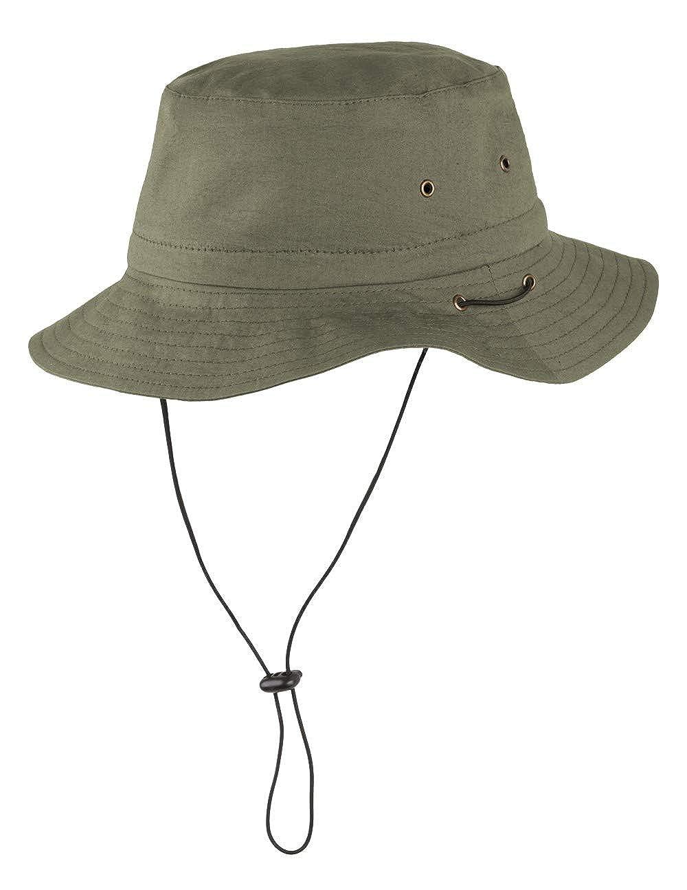 Dunkelbrauner Kängurulederhut aus angerauhtem Leder Hut Hüte Lederhut