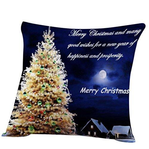 Christmas Pillow Cover, Keepfit Throw Pillow Case Sofa Cushion Cover Square Festival Home Decor (Xmas Tree)