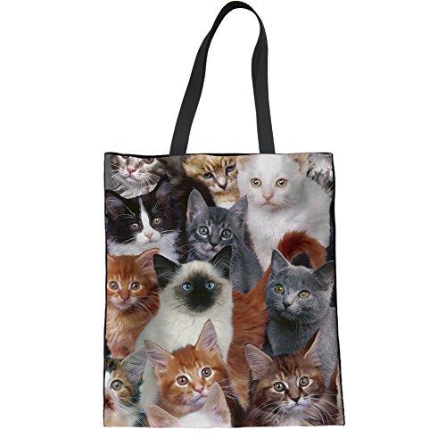 HUGS IDEA Y-H1092Z22 - Bolso de tela para mujer, Cat4 (Marrón) - Y-H10926Z22 Cat2