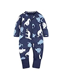 Kids Tales Baby Handed Footed Zipper Pajama Sleeper Cotton Romper(Size 4M-3T)
