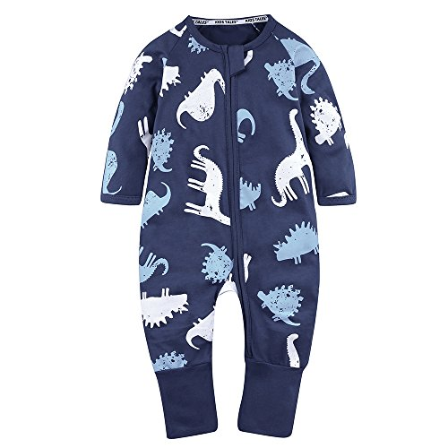 (Kids Tales Baby Handed Footed Zipper Pajama Sleeper Cotton Romper(Size 4M-3T))
