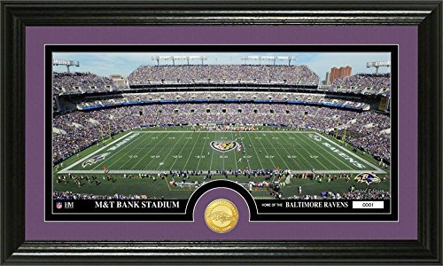 """NFL Baltimore Ravens """"Stadium"""" Bronze Coin Panoramic Photo Mint by The Highland Mint"""