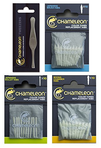 UPC 758149103969, Chameleon Brush Nibs, Bullet Nibs, Mixing Chamber Nibs and Tweezer