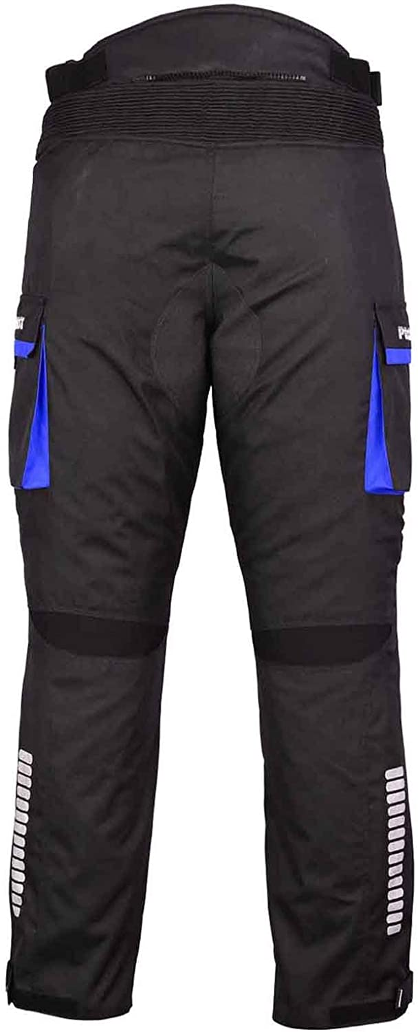 PROFIRST Mr.Pro CE Approved All Weather Waterproof Armoured Motorbike Motorcycle Trouser Pant with Removable Lining