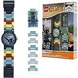LEGO Star Wars Boba Fett Orologio-collegare da bambini - Analogico - Quarzo - Quadrante grigio - 9005466