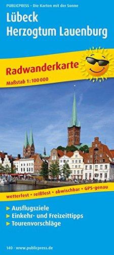 Lübeck - Herzogtum Lauenburg: Radwanderkarte mit Ausflugszielen, Einkehr- und Freizeittipps, reissfest, wetterfest, abwischbar. 1:100000 (Radkarte / RK)
