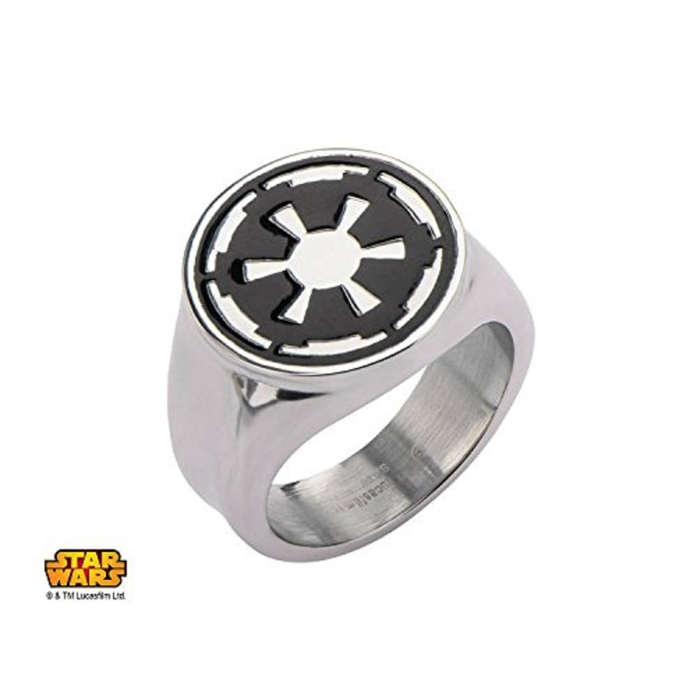 Disney Star Wars Stainless Steel Star Wars Galactic Empire Symbol Ring Size 13mm