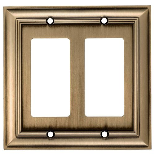 Allen + roth Z1768RR-ABH Double Decorator Antique Brass S...