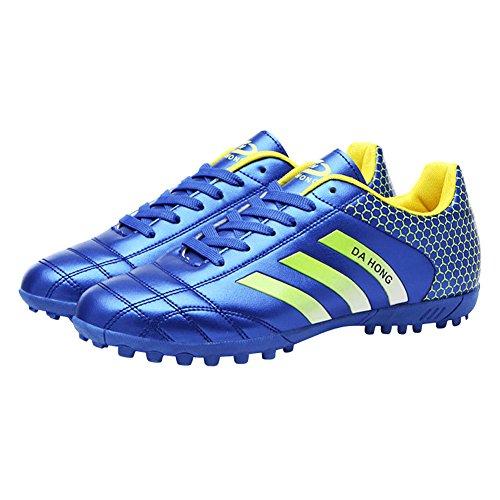 Genda 2Archer Atlético de los Hombres Atan Para Arriba los Zapatos del balompié al aire libre / el Fútbol de Interior Calza los Zapatos Corrientes Para el Padre y el Hijo Azul