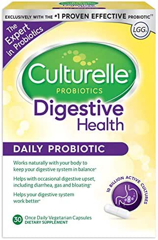 Culturelle Daily Probiotic, 30 count Digestive Health Capsules | Works Naturally with Your Body to Keep Digestive System in Balance* | With the Proven Effective Probiotic†
