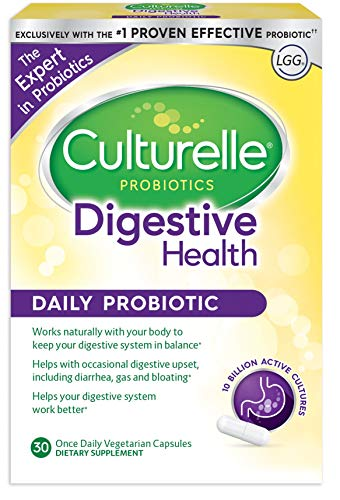 Culturelle Daily Probiotic, 30 count Digestive Health Capsules | Works Naturally with Your Body to Keep Digestive System in Balance* | With the #1 Proven Effective Probiotic by Culturelle